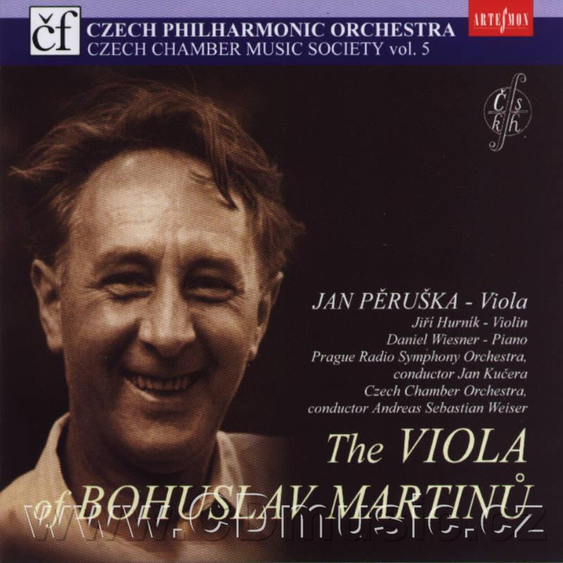 MARTINŮ B. RHAPSODY - CONCERTO FOR VIOLA AND ORCHESTRA H. 337, THREE MADRIGALS, SONATA No.