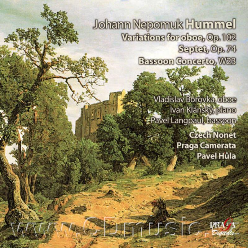HUMMEL J.N. INTRODUCTION, THEME AND VARIATIONS Op.102 FOR OBOE AND ORCH., SEPTET IN D MIN