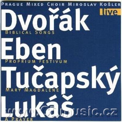 DVOŘÁK A. BIBLICAL SONGS ARRANGED FOR MIXED CHOIR AND ORGAN BY J.BURGHAUSER, EBEN D. PROPR