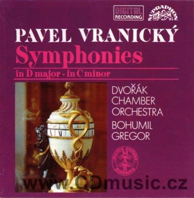 VRANICKÝ P. (1756-1808) SYMPHONIES Op.52 and IN C Sine Op. / Dvořák Chamber Orchestra