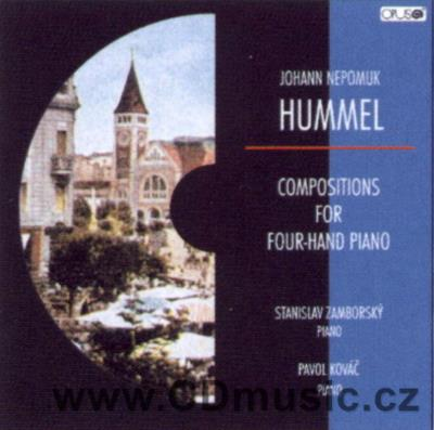 HUMMEL J.N. (1778-1837) COMPOSITIONS FOR FOUR-HAND PIANO / S.Zamborský, P.Kováč piano