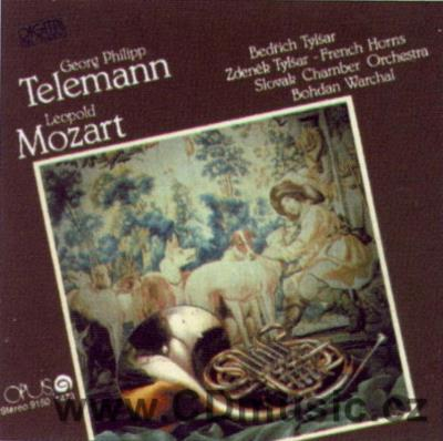 TELEMANN G.P. MOZART L. CONCERTOS FOR FRENCH HORNS, STRING ORCHESTRA / B.Tylšar, Z.Tylšar