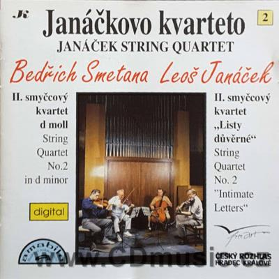SMETANA B. STRING QUARTET No.2 D minor, JANÁČEK L. STRING QUARTET No.2 INTIMATE LETTERS /