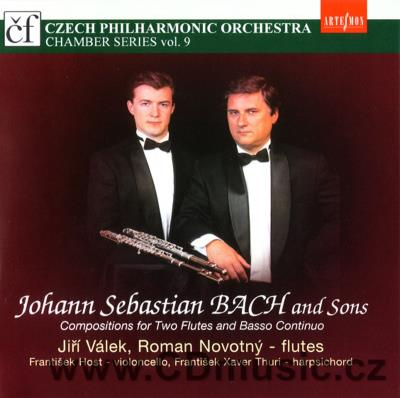BACH J.S. AND SONS COMPOSITIONS FOR TWO FLUTES AND BASSO CONTINUO / J.Válek, R.Novotný flu
