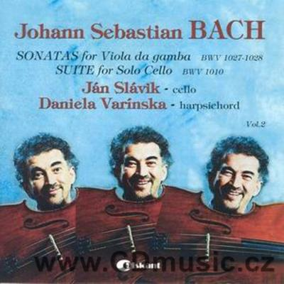 BACH J.S. SONATAS FOR VIOLA DA GAMBA AND HARPSICHORD, SUITE FOR CELLO / J.Slávik cello
