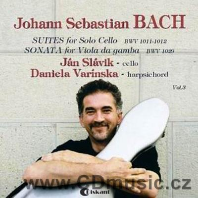 BACH J.S. SONATA FOR VIOLA DA GAMBA AND HARPSICHORD, SUITES FOR SOLO CELLO / J.Slávik