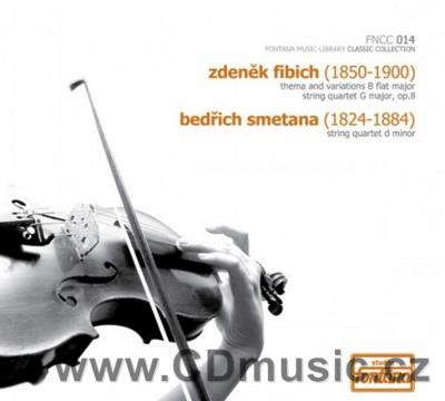FIBICH Z. THEMA AND VARIATIONS B FLAT MAJOR FOR STRING QUARTET, STRING QUARTET G MAJOR Op.