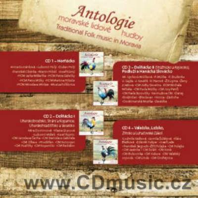 ANTOLOGIE MORAVSKÉ LIDOVÉ HUDBY / ANTHOLOGY OF MORAVIAN TRADITIONAL FOLK / Vol.1-4 (4CD)