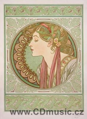 Mucha - postcard Laurel, 1901