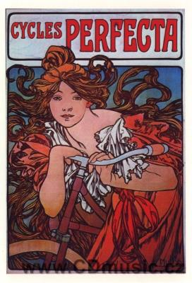 Mucha - postcard Cycles Perfecta, 1897
