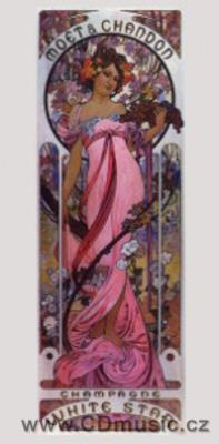"Mucha - postcard ""Moet + Chandon - Champagne White Star"", 1899"