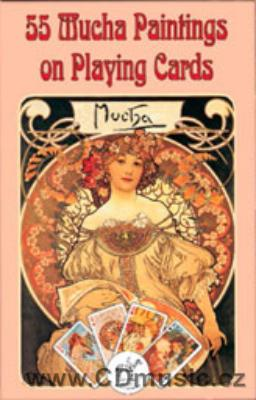 Mucha - hrací karty Bridž / Single Deck Playing Cards (55 Cards)