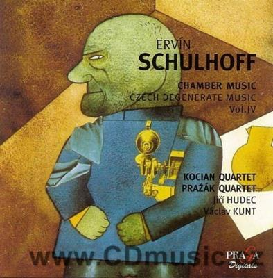 SCHULHOFF E. 5 PIECES FOR STRING QUARTET, CONCERTINO FOR FLUT, VIOLA AND DOUBLE BASS, DUO