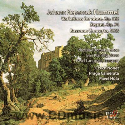 HUMMEL J.N. INTRODUCTION, THEME AND VARIATIONS FOR OBOE AND ORCH., SEPTET, GRAND CONCERTO