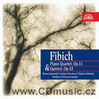 FIBICH Z. QUARTET FOR VIOLIN, VIOLA, CELLO AND PIANO, QUINTET FOR PIANO, CLARINET, FRENCH