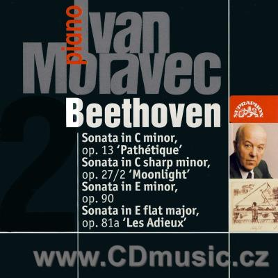 BEETHOVEN L.v. SONATA No.8 PATHETIQUE, No.13 MOONLIGHT, 32 VARIATIONS / I.Moravec piano