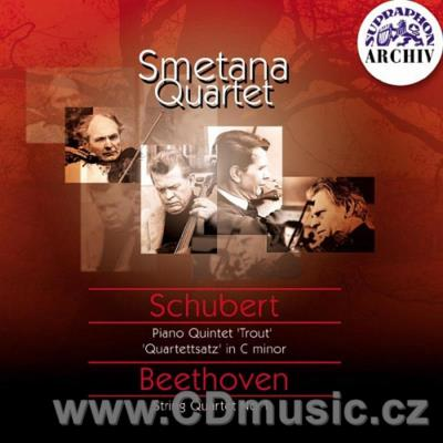 SCHUBERT F. QUINTET IN A MAJ FOR PIANO, VIOLIN, VIOLA, CELLO AND DOUBLE BASS, STRING QUART