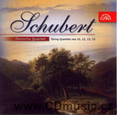 SCHUBERT F. STRING QUARTETS No.13 IN A MINOR, No.10 IN E FLAT MAJOR, No.15 IN G MAJOR, No.