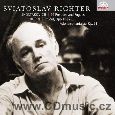SHOSTAKOVICH D. 24 PRELUDES AND FUGUES, CHOPIN F. ETUDES / S.Richter piano (1956)