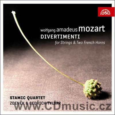 MOZART W.A. DIVERTIMENTOS FOR STRINGS AND TWO FRENCH HORNS / Stamic Quartet, Z&B.Tylšar