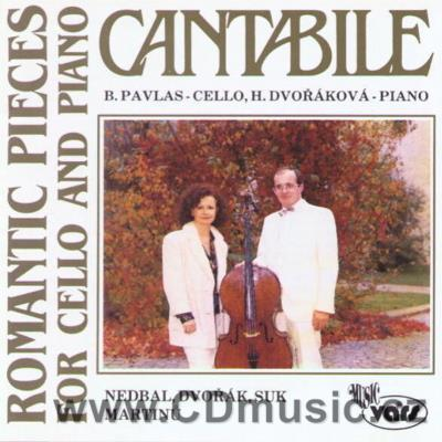 CANTABILE - CZECH ROMANTIC PIECES FOR CELLO AND PIANO (NEDBAL O. ROMANTIC PIECE, ROMANCE,